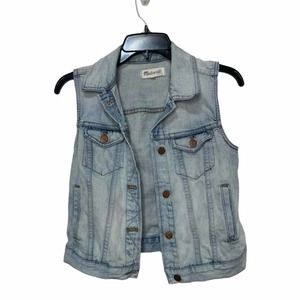 Madewell the Jean Vest Clear Blue Small #C2295